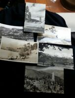 Vintage black & white postcards of American West, 1930s or 1940s