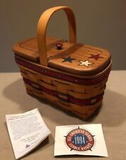 Longaberger 1994 All American Candle Basket Combo w/Rare Stars Lid Excellent!