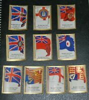 German Vintage Cigarettes Card, GREAT BRITAIN.  Flags of countries World War I