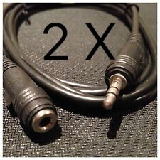 2 X 1.8m Male - Female 3.5mm Stereo Audio Speaker Headphone Aux Extention Cable