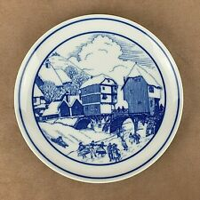 Hutschenreuther Porcelain Plate Blue 8 inch Exclusively Niederthaler Hof Germany
