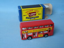 Matchbox Titan Bus First MICA Convention 1986 Red Body Macau Base Boxed MB-17