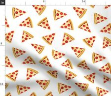 Pizza Slice Pepperoni Junk Food Little Arrow Fabric Printed by Spoonflower Bty