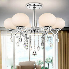 Luxury Chandelier Ceilling Light Pendant Lamp with 6-Lights in Global Shade Euro