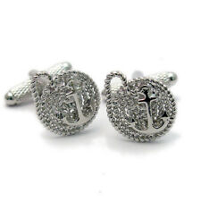 Anchor On Rope Cufflinks by Onyx-Art New Gift Boxed CK1026