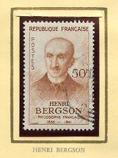 STAMP / TIMBRE FRANCE OBLITERE N° 1225 / CELEBRITE / HENRI BERGSON