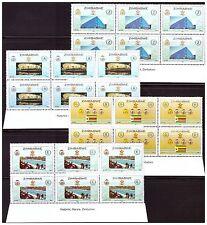 ZIMBABWE 2009 BEIJING OLYMPICS SET IN IMPRINT BLOCKS SG 1262 TO 1265