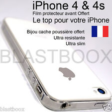 Coque Housse Etui TPU Gel Silicone Souple Crystal iPhone 4/4s