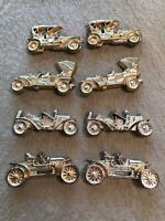 Lot Of 8 Vintage Ford Plastic Gold Refrigerator Magnet  Model T Model A
