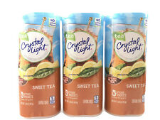 Crystal Light Sweet Tea Powdered Drink Mix 3 Cans, 6 Pitcher Packs ea. Free Ship