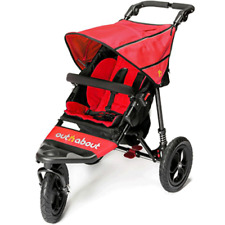 OutnAbout Nipper V4 Pushchair - CARNIVAL RED - BRAND NEW - UK - SALE