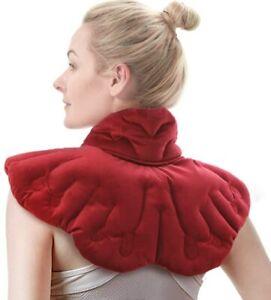Heated Neck Wrap Microwave Neck Warmer Shoulder Heat Pad Arthritis Relief Filled