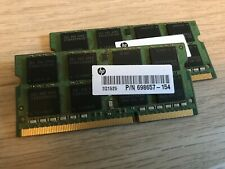 HP 16GB Laptop RAM 2x8GB PC3-12800 DDR3-1600 Samsung M471B1G73QH0-YK0 698657-154