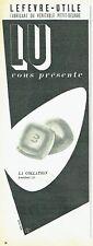 Publicité Advertising 097  1954  Biscuit LU   petit beurre breakfest J. Colin