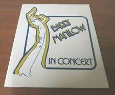 Barry Manilow Vintage Concert Program Color Photos Tour Book Memorabilia 1978