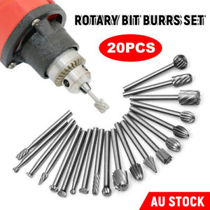 20x Die Grinder Bits Solid Carbide Burrs Set Rotary Tool for Dremel Accessories