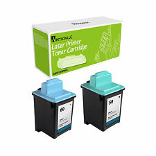 2PK Ink Cartridge for Lexmark Z705 Z710 Z715  #50 # 60 17G0050 17G0060