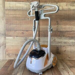 SALAV Orange Professional Series Garment Steamer Dual Bar w/ Foot Pedals GS45-DJ