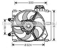 ELETTROVENTOLA RADIATORE FIAT PUNTO GT 1.4 / 1.2    FT7286