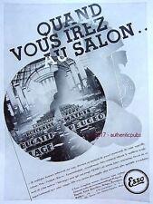 PUBLICITE ESSO HUILE ROSENGART BUGATTI FORD PEUGEOT MATHIS DE 1931 FRENCH AD PUB