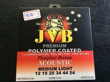 JVB Polymer Phosphor Bronze Coated Acoustic Strings 12 - 54