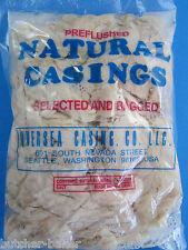 600 Links Sausage Natural Hog ONE FULL HANK of LONG Pork Casings Lining gut