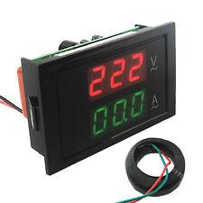 Ac 80 450v Lcd Dual Display Digital Ac Voltmeter Ammeter Voltage Amp Gauge Panel