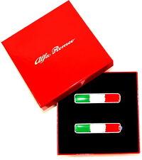 ALFA ROMEO BANDIERA ITALIANA porta pilastro Wing Badge Emblema Nuovo + Originale 71807227