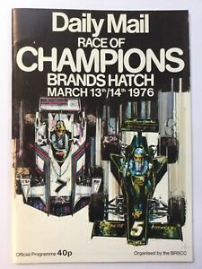 Race of Champions at Brands Hatch 1976 programme