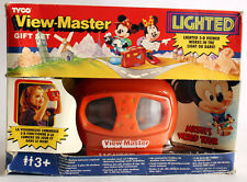 VERY RARE VINTAGE 1992 VIEW MASTER LIGHTED MICKEY'S WORLD TOUR GIFT SET TYCO NEW