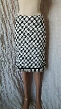 * MCM * MICHAEL CROMER MUNCHEN A LINE CHECK PATTERNED WOVEN SKIRT SIZE 36