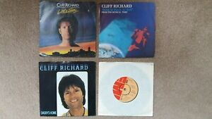 """Cliff Richard - 4 x 7"""" Singles - Little Town, Born To Rock 'n' Roll + 2 others"""