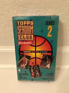 1993-94 Topps Stadium Club NBA Basketball Series 2 Factory Sealed Card Cards