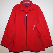 Polo Ralph Lauren Big and Tall Mens Red Full-Zip Fleece Jacket NWT $165 2XLT