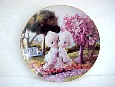 """Vintage Precious Moments Boy and Girl """"Love One Another"""" 7.5"""" Plate # 4543 k"""