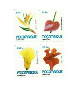 SPECIAL LOT Mozambique 1991 1141-4 - Flowers - 28 Sets of 4v - MNH