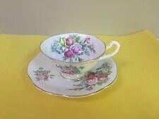 Rosina Bone China Teacup And Saucer England With Roses