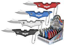 24 Qty Small Mini Batman Keychain Spring Assisted Folding Knife Display Box