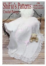 CROCHET PATTERN for  BABY HEART SHAWL AFGHAN  #98 By ShiFio Patterns