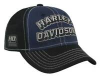 Harley-Davidson Mens Modern Blues Embroidered Colorblocked Baseball Cap BCC32089