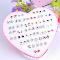 Lots of 12/36 Pairs Women Chic Crystal Diamante Flower Stud Earrings Jewelry Set