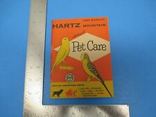 Vintage 47-pg Hartz Mountain Pet Care What you Should Know Booklet, S1093