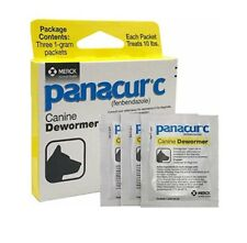 Panacur C Canine Dewormer Treatment Three 1-Gram Packets, Each Packet Treats 10