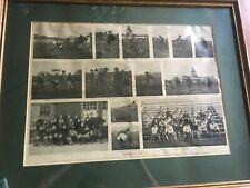 Lewis Weekly Antique 1894  - HEMMENT - Harvard VS Yale Football Print Framed