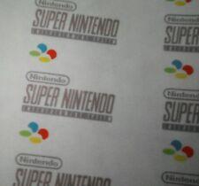 🌟Kintaro Super Ursus PAL EURO SNES Logo Decal Sticker 3D Printed Super Nintendo