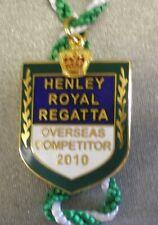 HENLEY ROYAL REGATTA ENAMEL Badge OVERSEAS COMPETITOR 2010 ROWING