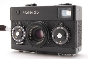 *EX+5 w/Case* Rollei 35 Black Compact 35mm Film Camera w/40mm F/3.5 Lens #JAPAN