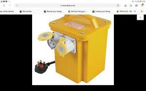 Electro 3.3KVA Portable Site Transformer Power Tool Socket Twin Output 110V
