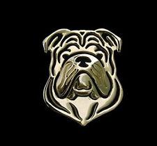 British Bulldog Brooch Lapel Pin -  Fashion Jewellery -Gold Plated