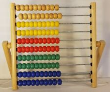 Ikea Abacus Rainbow Wood Toy Counting Addition Subtraction Boy Girl Kids